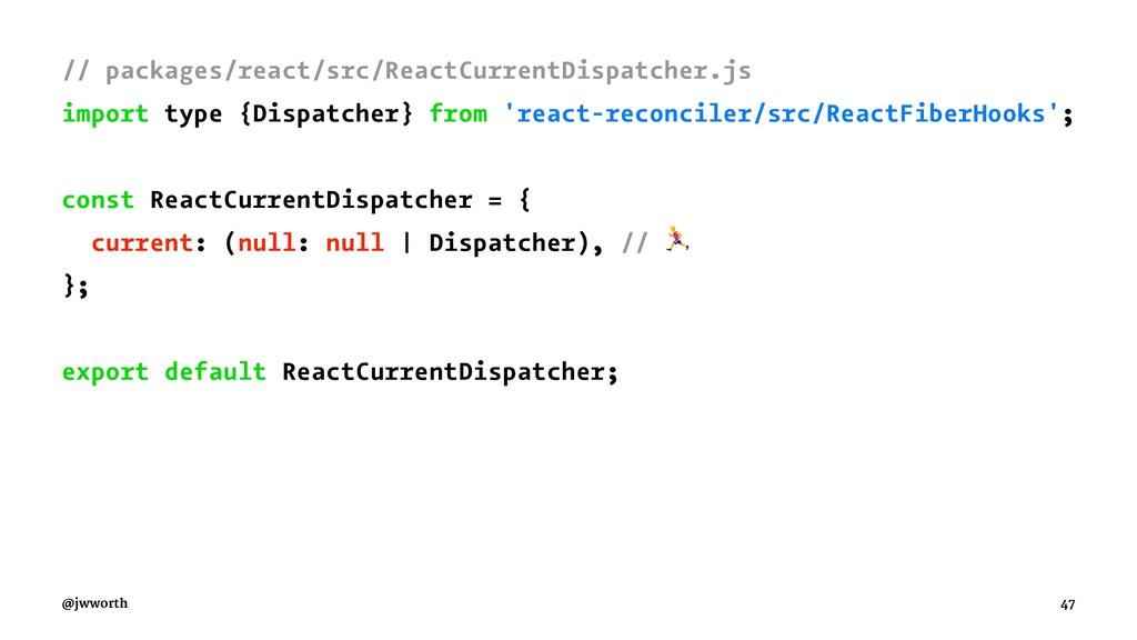 // packages/react/src/ReactCurrentDispatcher.js...