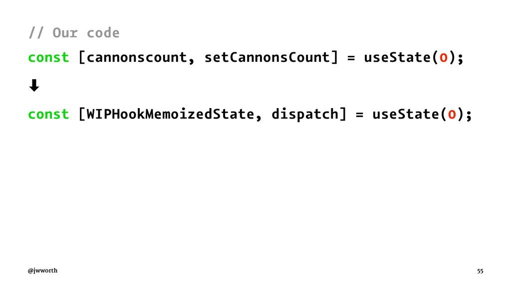 // Our code const [cannonscount, setCannonsCoun...