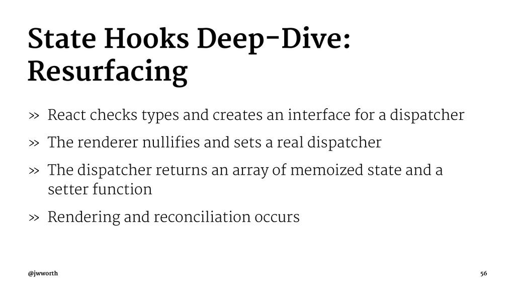 State Hooks Deep-Dive: Resurfacing » React chec...