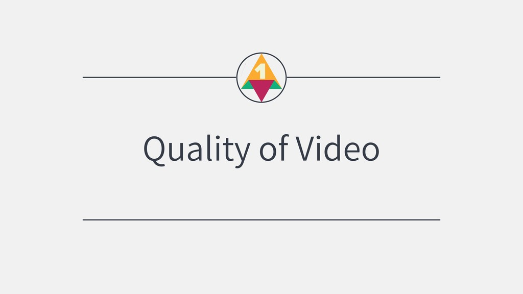 Quality of Video