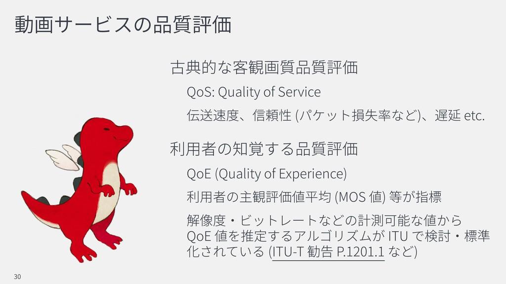 QoS: Quality of Service ( ) etc. QoE (Quality o...