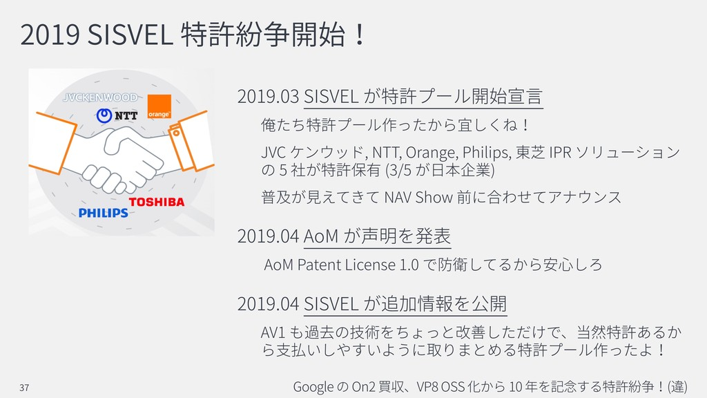2019 SISVEL 2019.03 SISVEL JVC , NTT, Orange, P...