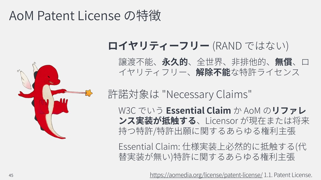 """AoM Patent License (RAND ) """"Necessary Claims"""" W..."""