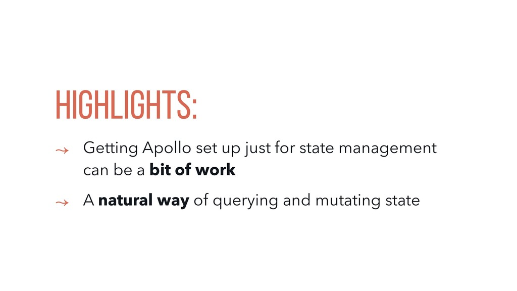 HIGHLIGHTS: ↝ Getting Apollo set up just for st...