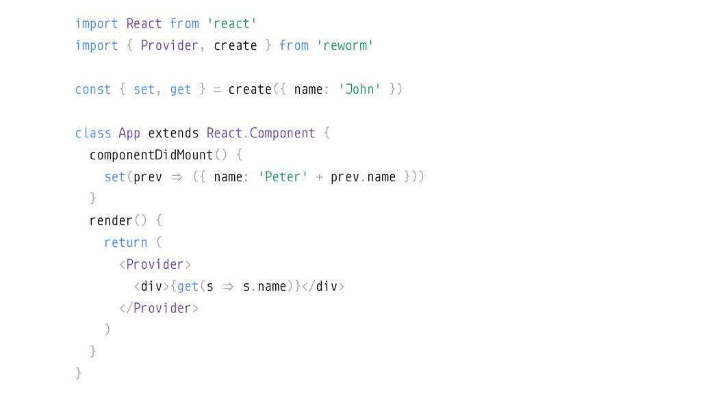 import React from 'react' import { Provider, cr...
