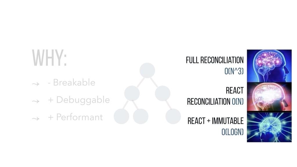 WHY: ↝ - Breakable ↝ + Debuggable ↝ + Performan...