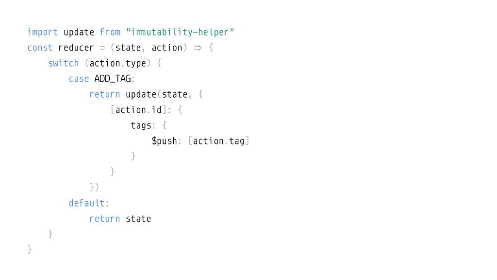 "import update from ""i!""utability-helper"" const ..."