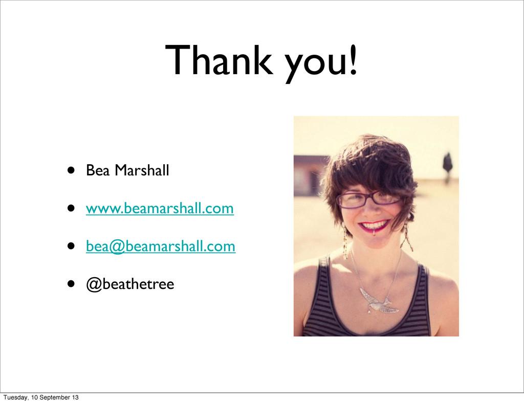 Thank you! • Bea Marshall • www.beamarshall.com...