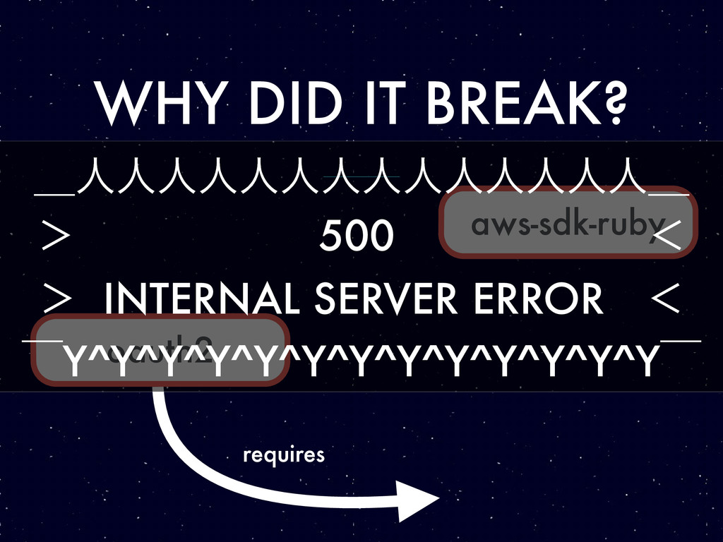 WHY DID IT BREAK? aws-sdk-ruby oauth2 requires ...