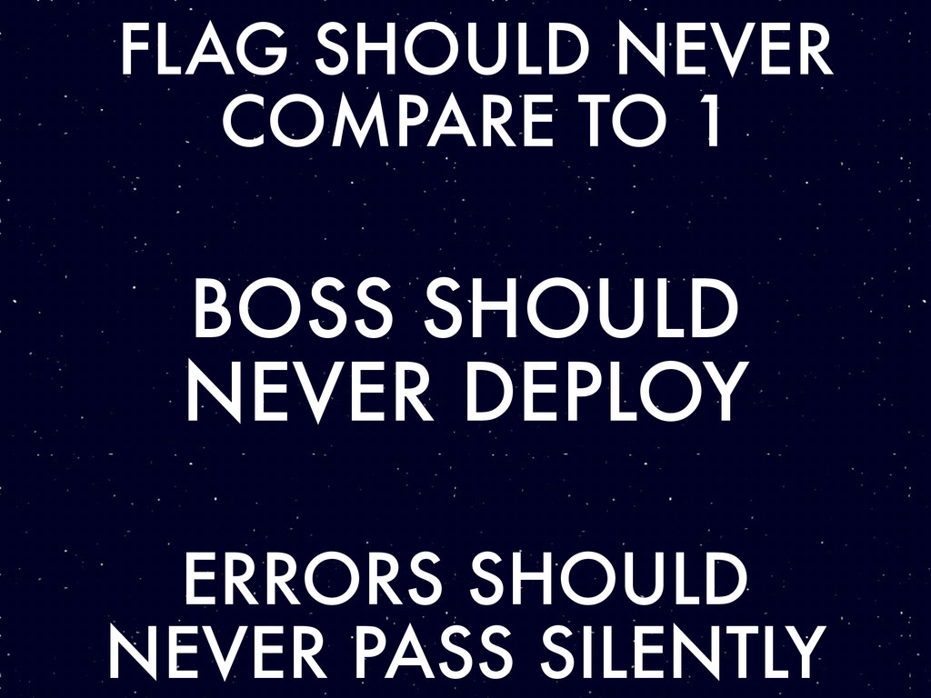 FLAG SHOULD NEVER COMPARE TO 1 BOSS SHOULD NEVE...