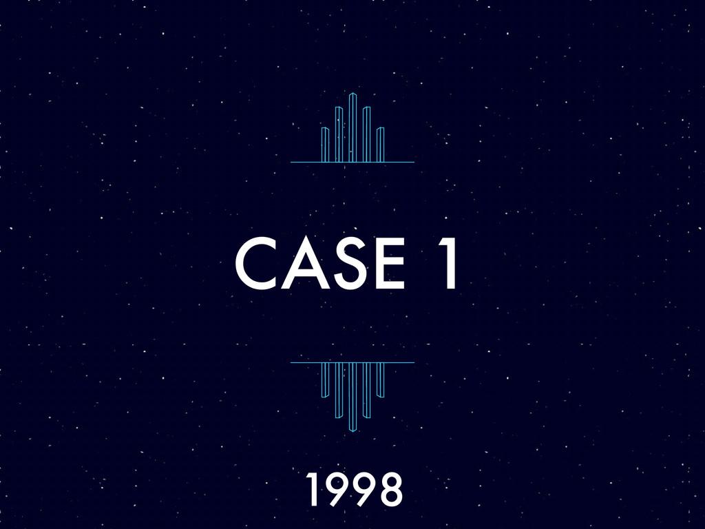 CASE 1 1998