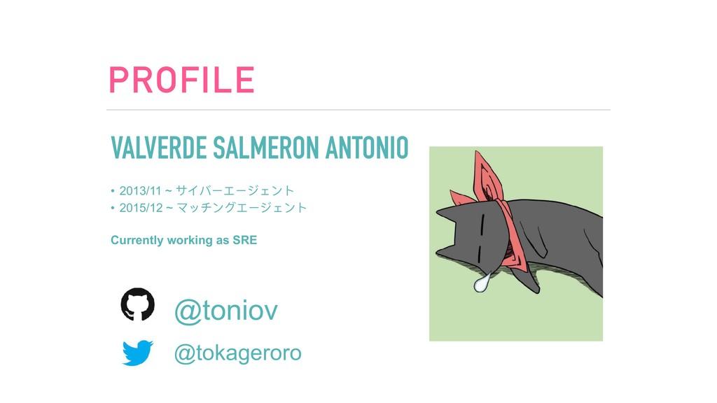 PROFILE VALVERDE SALMERON ANTONIO • 2013/11 ~ サ...