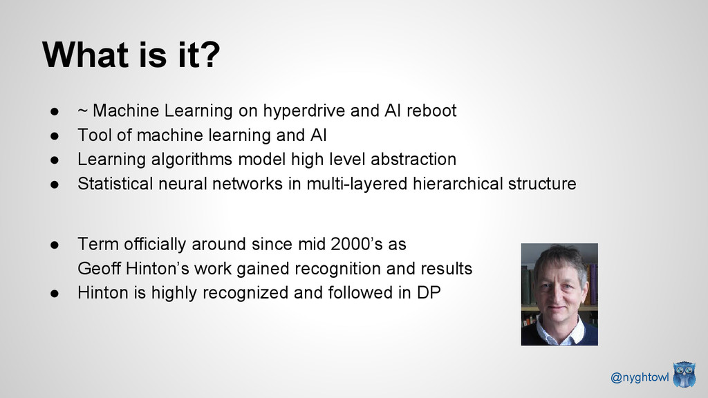 What is it? ● ~ Machine Learning on hyperdrive ...