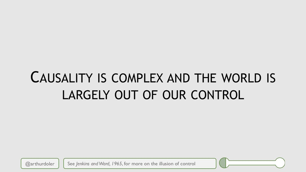 @arthurdoler CAUSALITY IS COMPLEX AND THE WORLD...