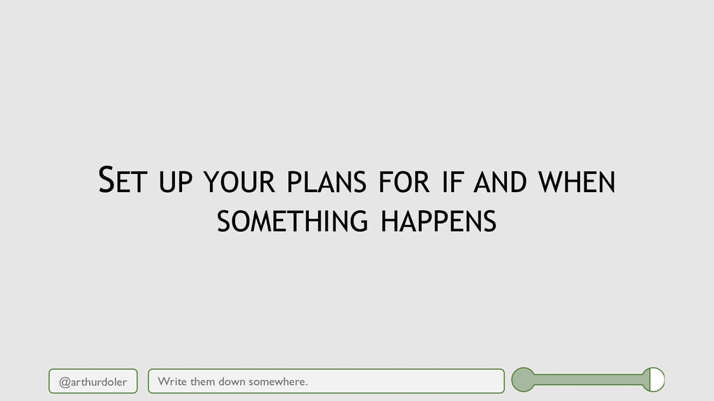 @arthurdoler SET UP YOUR PLANS FOR IF AND WHEN ...
