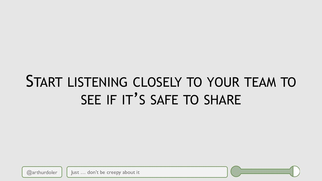 @arthurdoler START LISTENING CLOSELY TO YOUR TE...