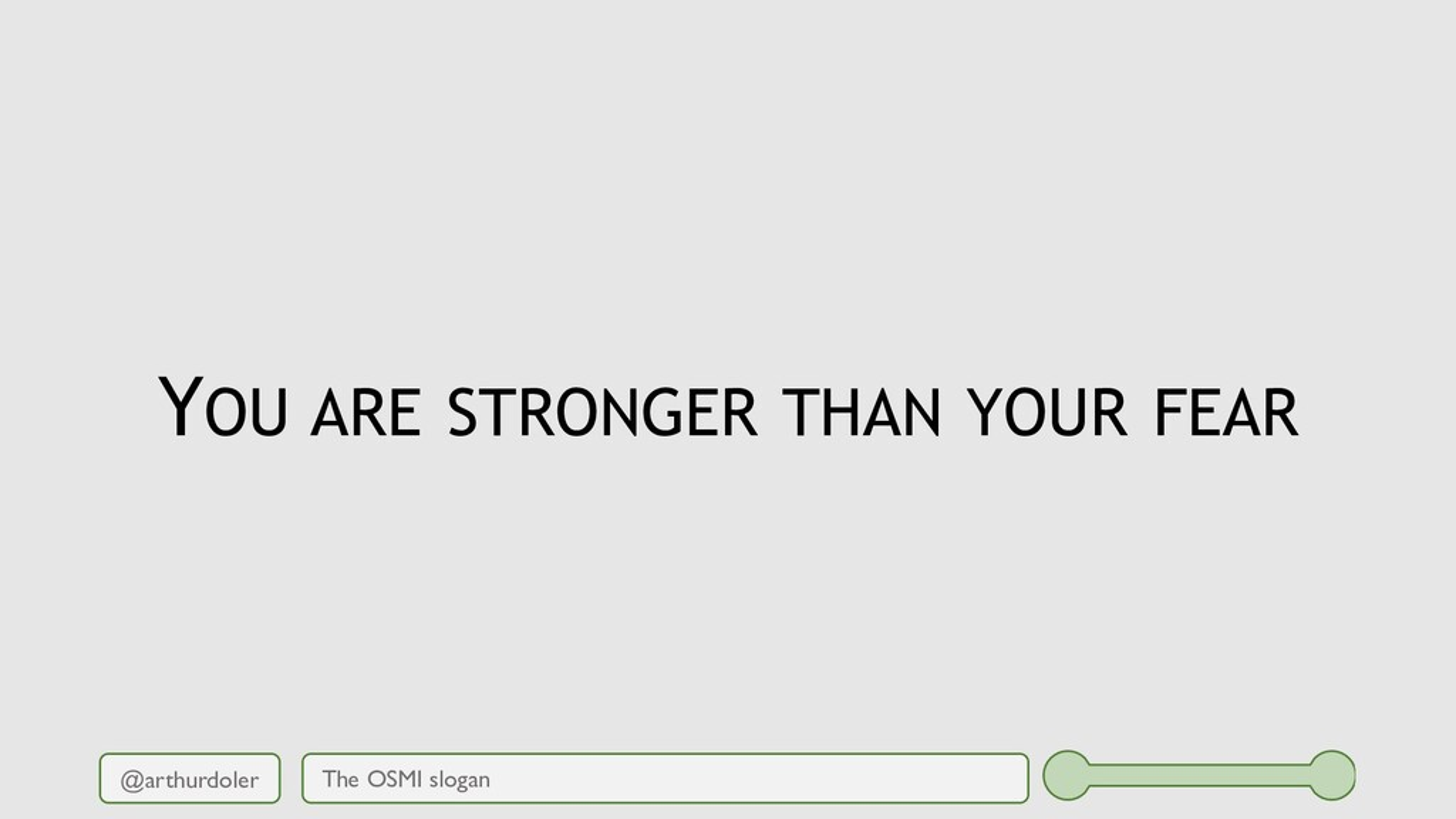 @arthurdoler YOU ARE STRONGER THAN YOUR FEAR Th...