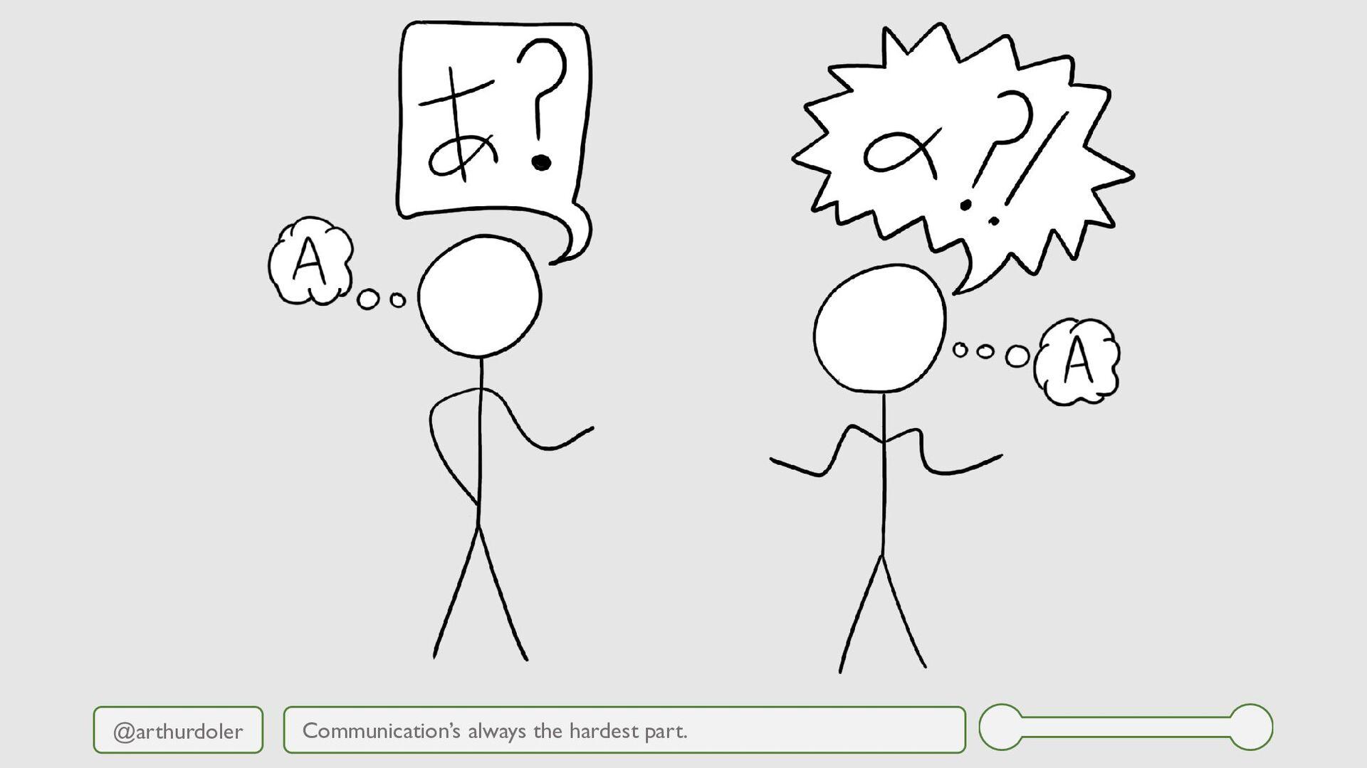 @arthurdoler Communication's always the hardest...