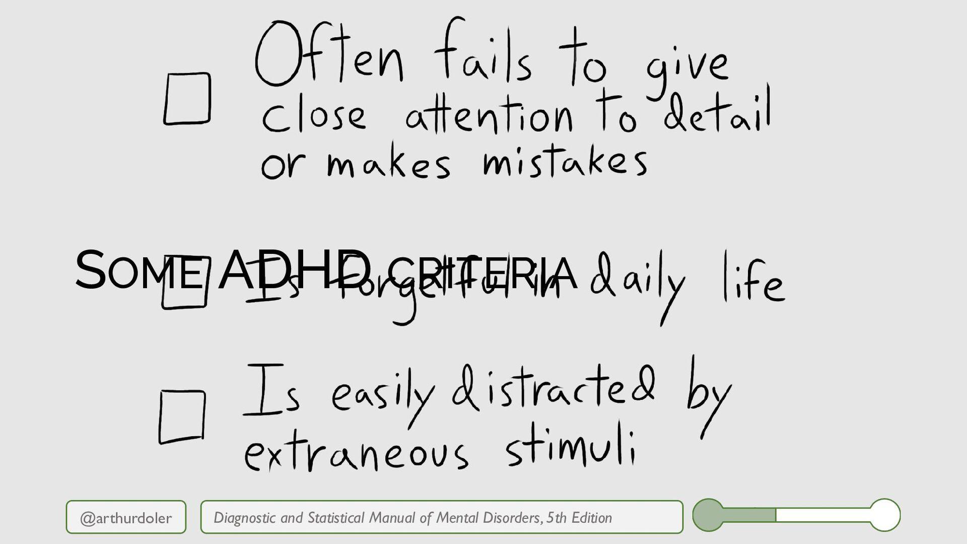 @arthurdoler Diagnostic and Statistical Manual ...