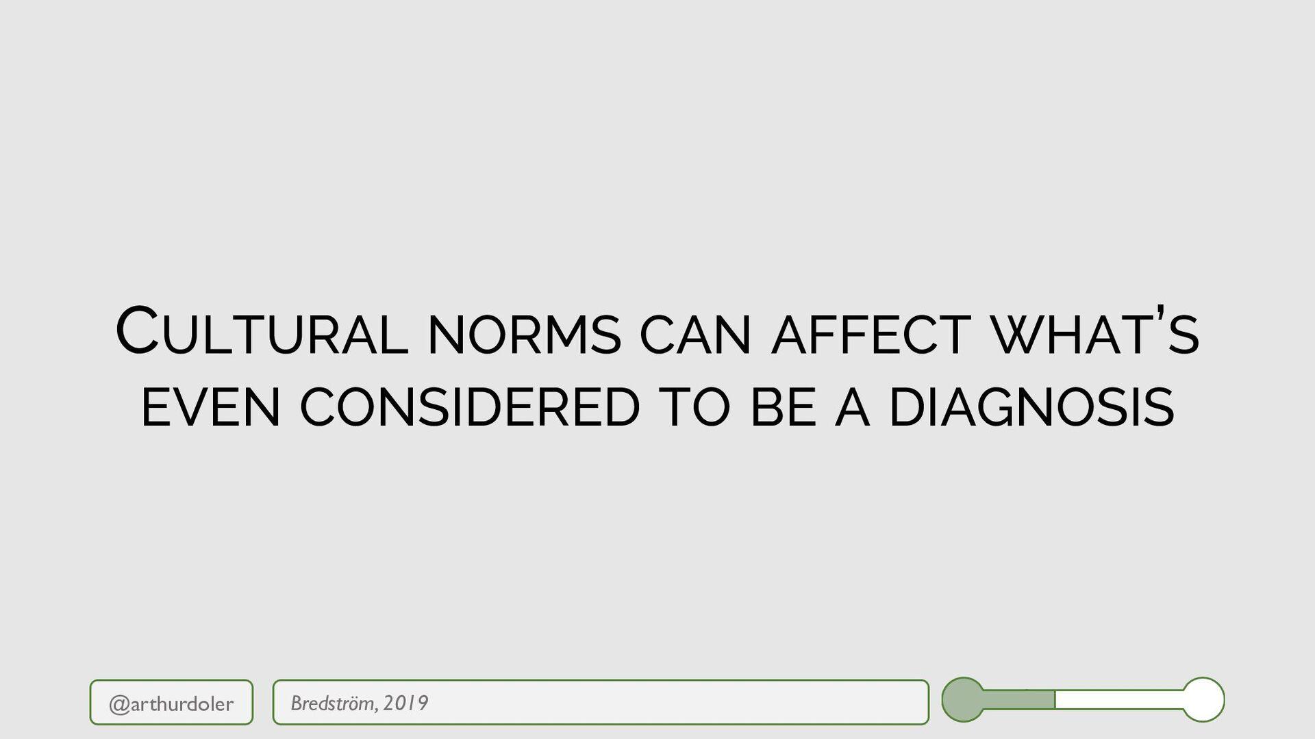 @arthurdoler CULTURAL NORMS CAN AFFECT WHAT'S E...