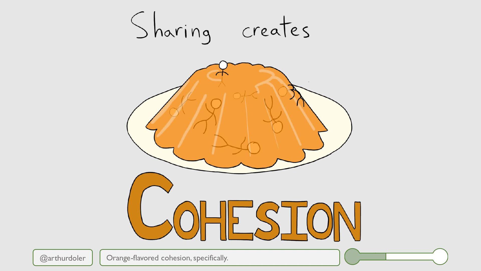 @arthurdoler Orange-flavored cohesion, specific...