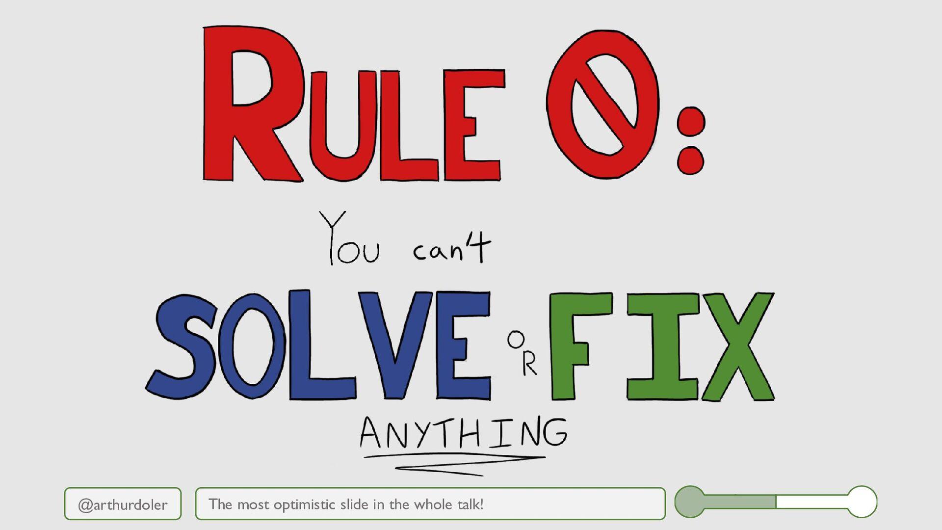 @arthurdoler The most optimistic slide in the w...