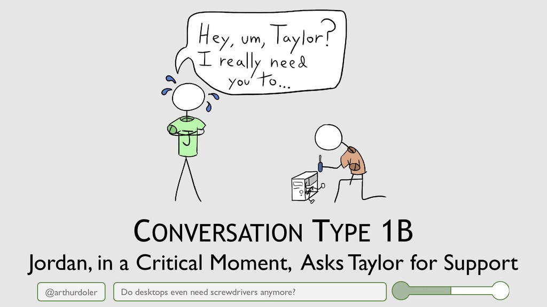@arthurdoler CONVERSATION TYPE 1B Do desktops e...