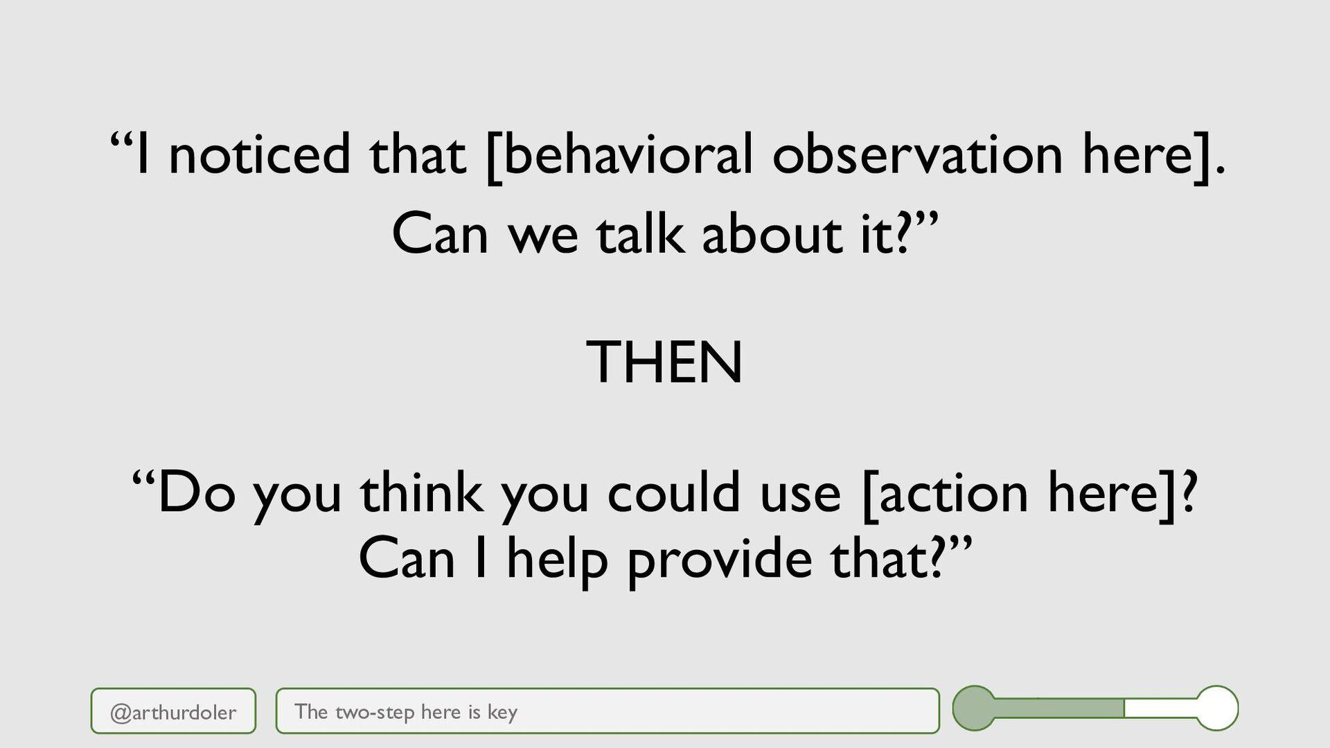 "@arthurdoler ""I noticed that [behavioral observ..."