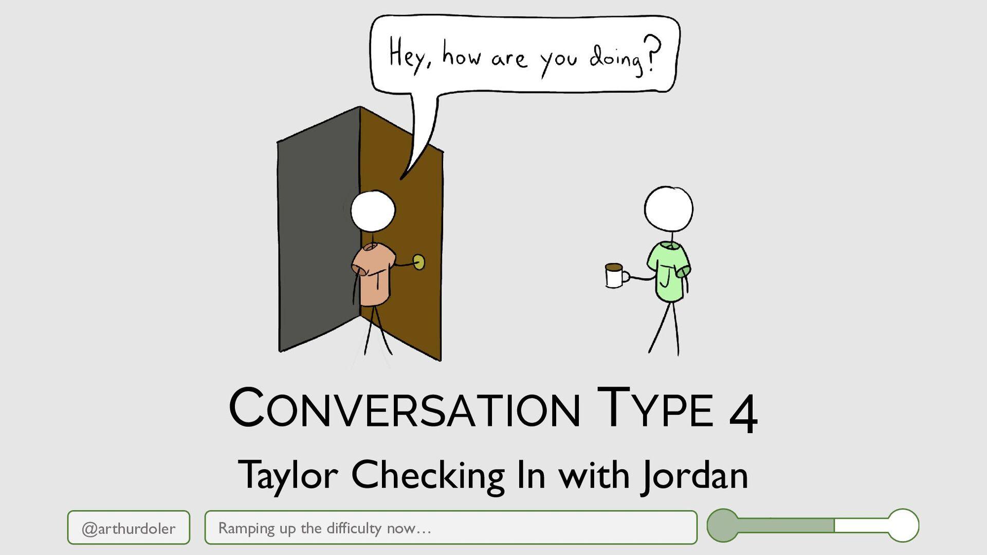 @arthurdoler CONVERSATION TYPE 4 Ramping up the...