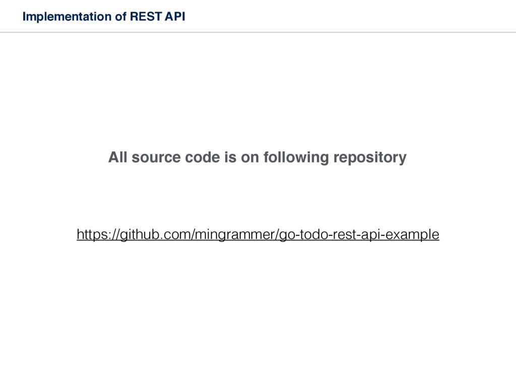 Implementation of REST API https://github.com/m...