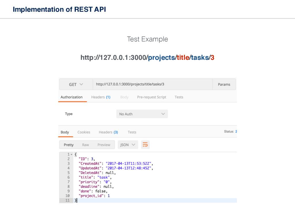 Implementation of REST API http://127.0.0.1:300...