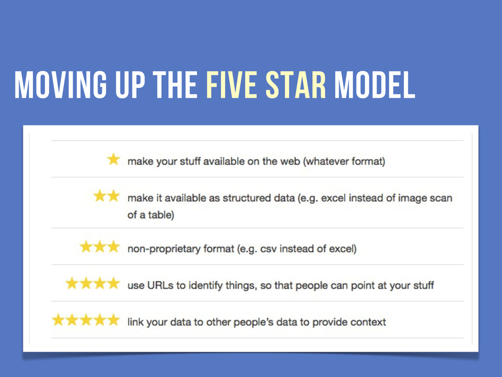 moving up the five star model