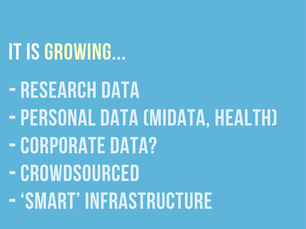 it is growing... - research data - personal dat...