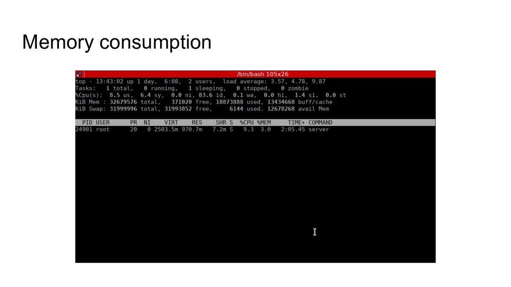 Memory consumption