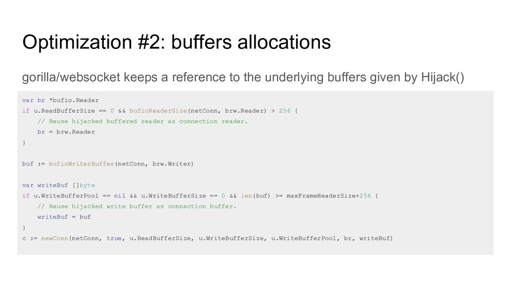 Optimization #2: buffers allocations gorilla/we...