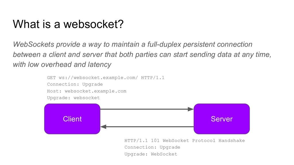 What is a websocket? WebSockets provide a way t...
