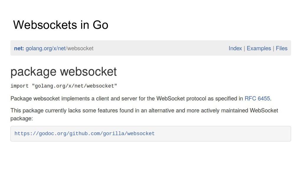 Websockets in Go