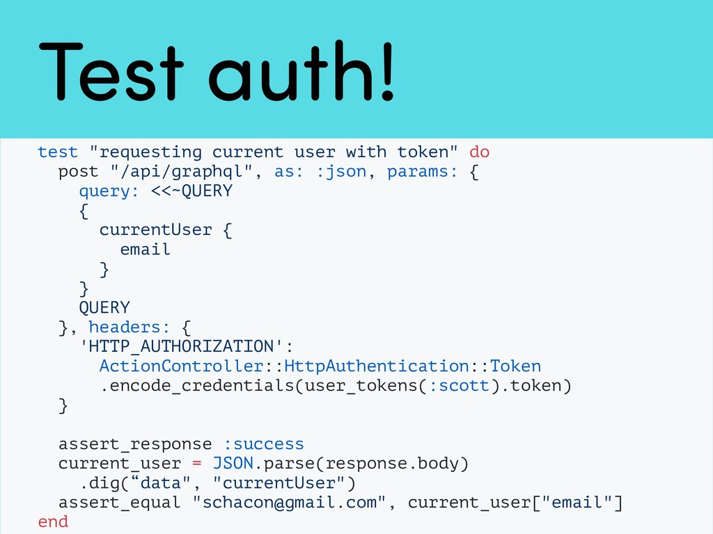 "Test auth! test ""requesting current user with t..."