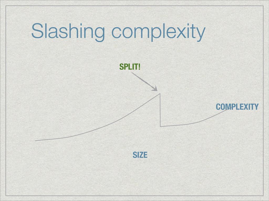 Slashing complexity SIZE COMPLEXITY SPLIT!
