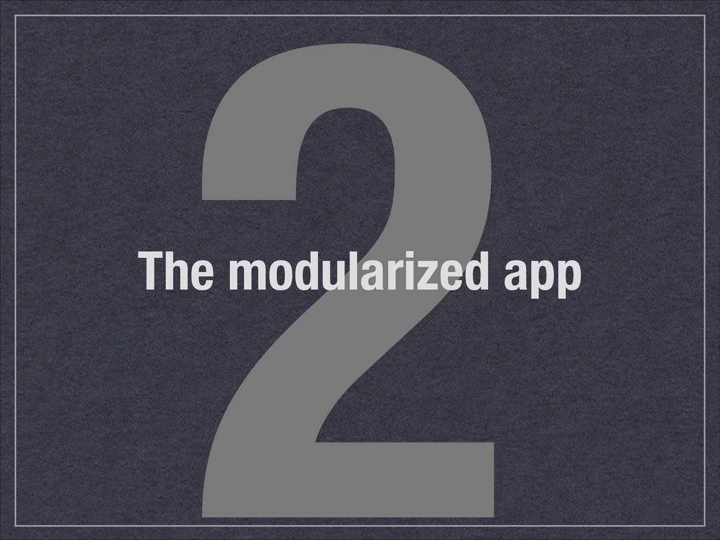 2 The modularized app