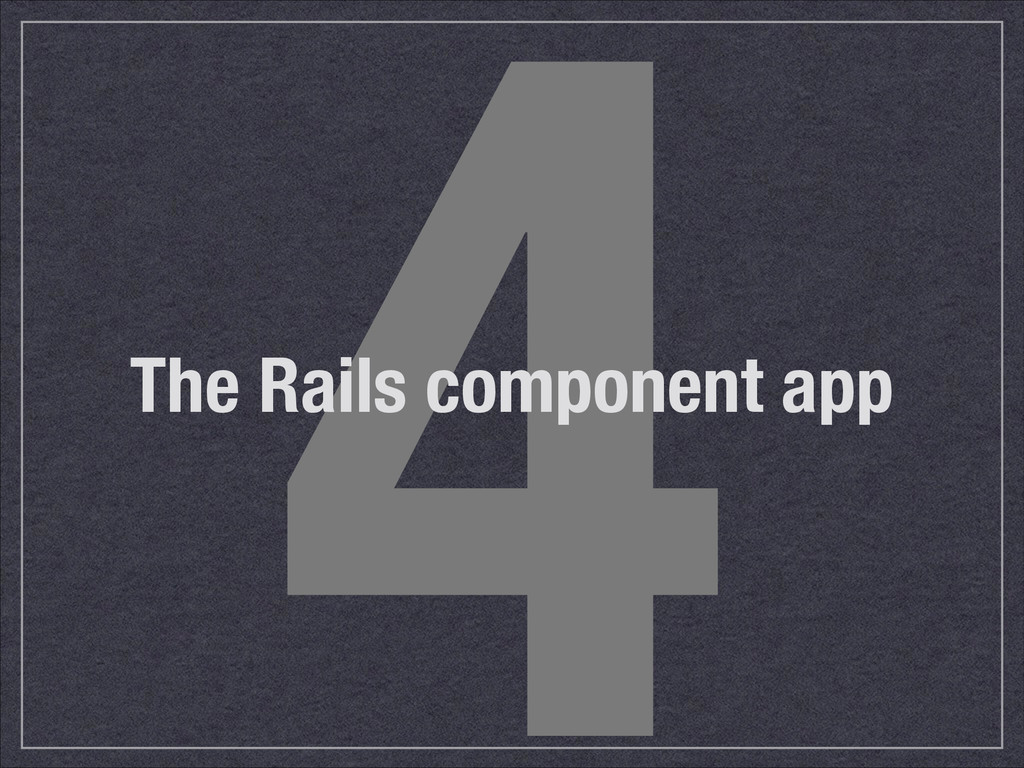 4 The Rails component app