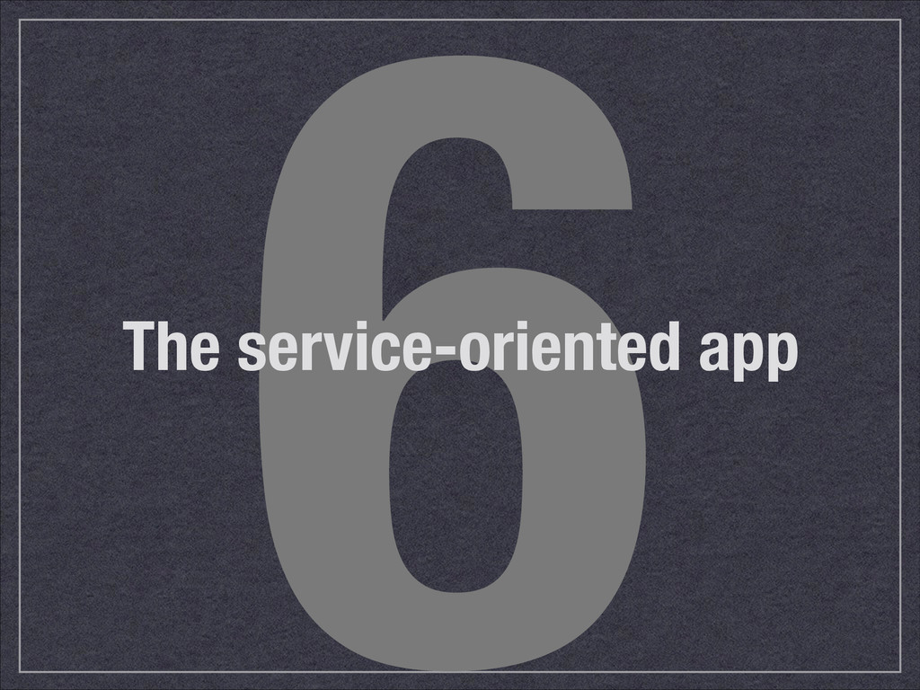6 The service-oriented app
