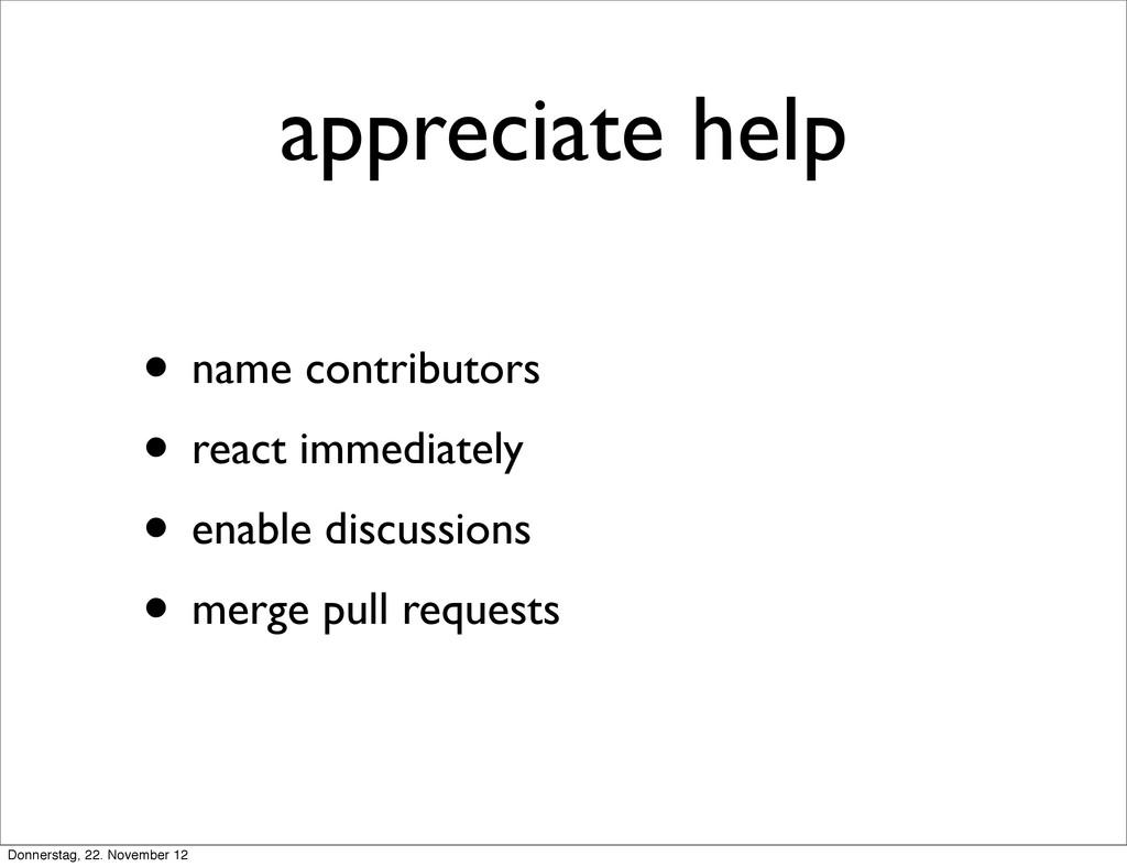 appreciate help • name contributors • react imm...