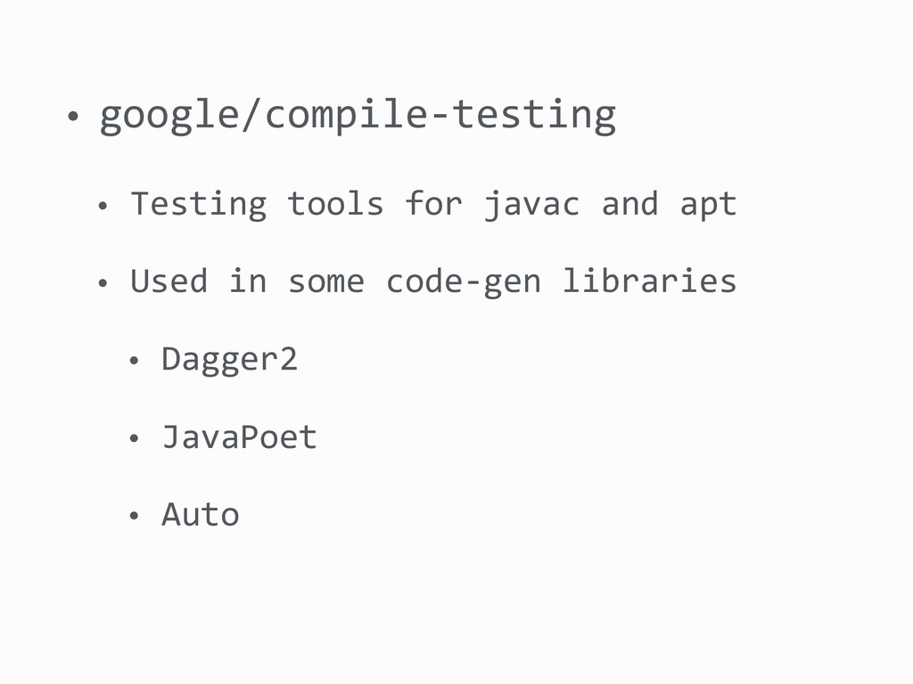 • google/compile-testing • Testing tools for ja...
