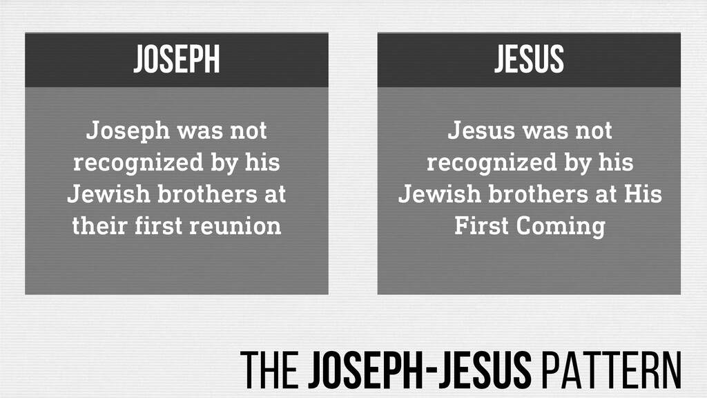 Joseph was not recognized by his Jewish brother...