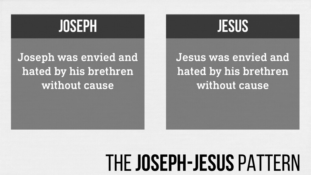 Joseph was envied and hated by his brethren wit...