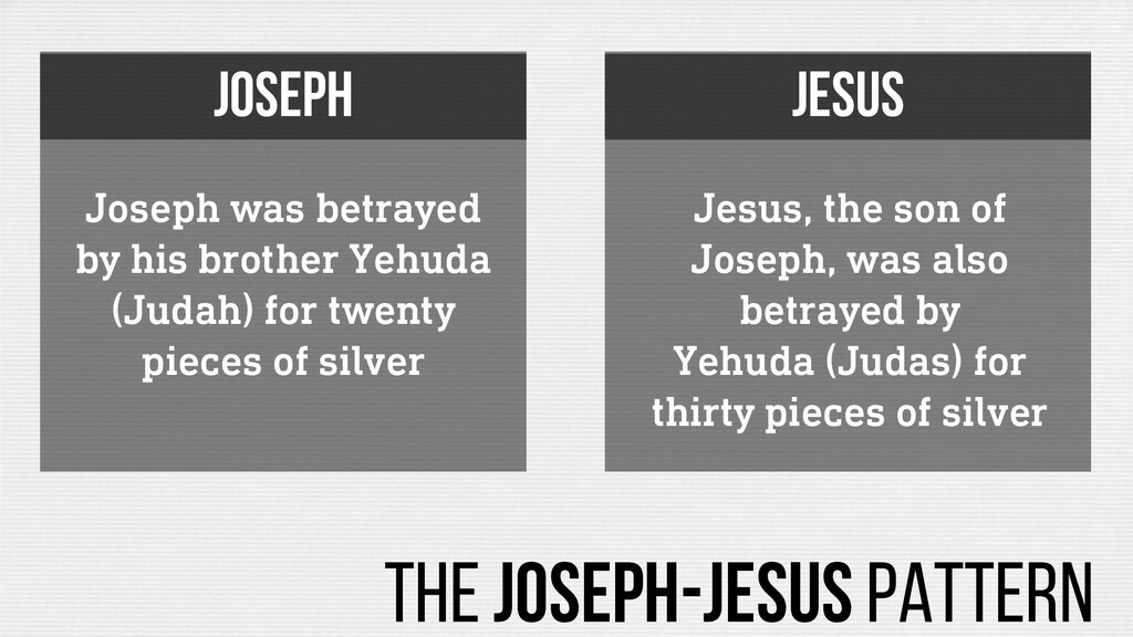 Joseph was betrayed by his brother Yehuda (Juda...
