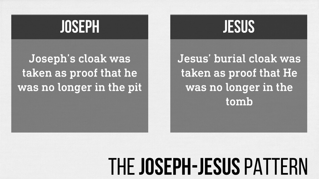 Joseph's cloak was taken as proof that he was n...