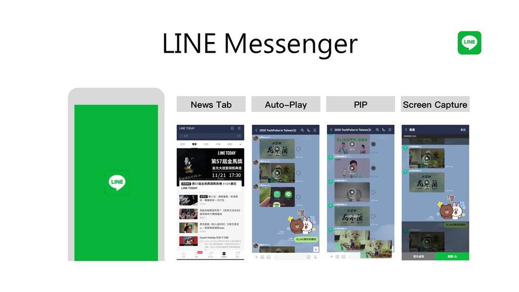 LINE Messenger Auto-Play PIP Screen Capture New...