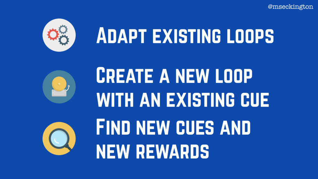 Adapt existing loops Create a new loop with an ...